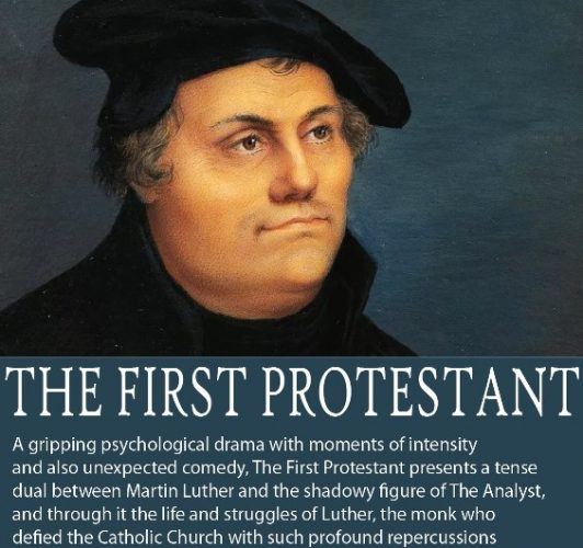 Picture of poster with an image of Martin Luther